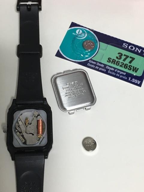LQ-142 電池交換 SR626SW カシオ 腕時計