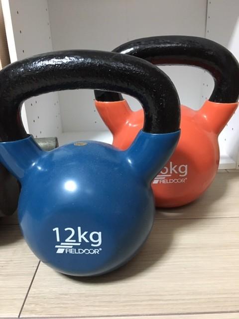 体型維持のための簡単なトレーニング ケトルベル